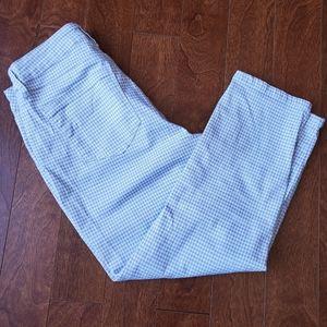 Grey & White Crop Pants